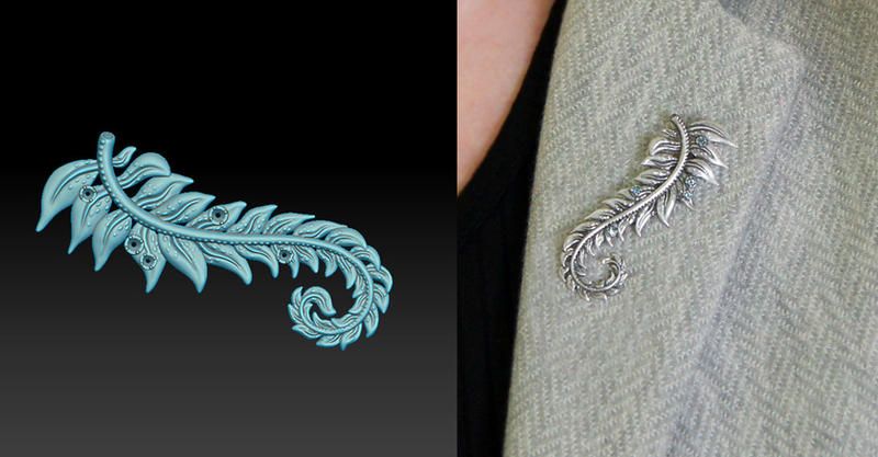 Zbrush Jewelry Brooch by Ozziaqueen