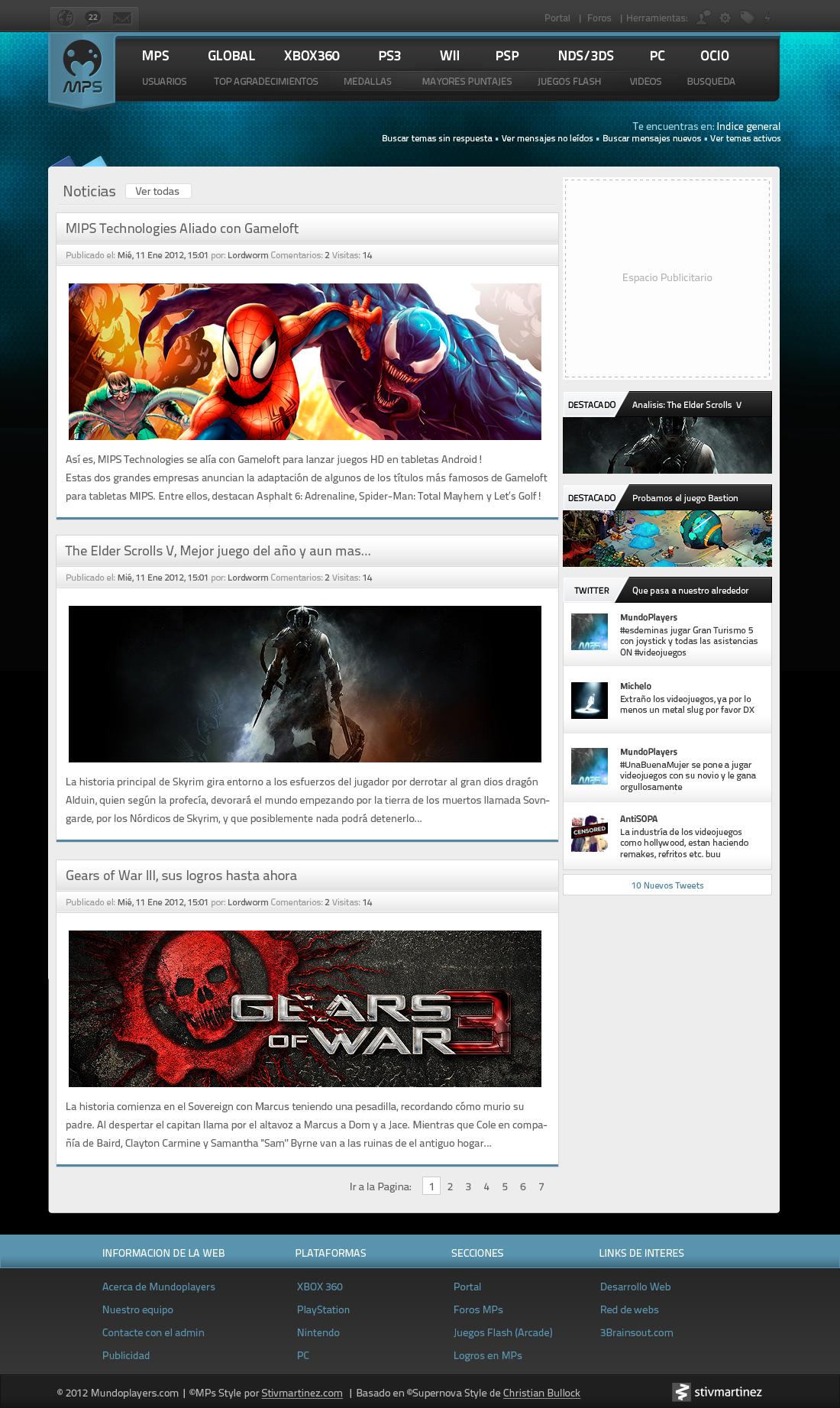 Mundoplayers v2.5 phpbb style by NEU7RAL