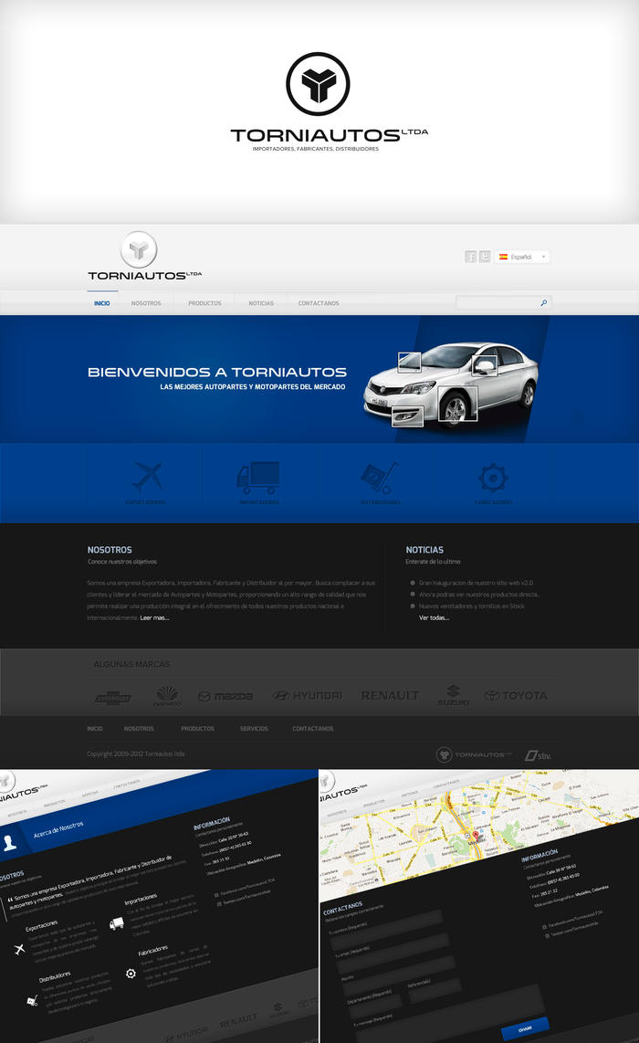 TorniautosLTDA logo and web redesign by NEU7RAL