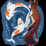 Koi Pond by halloumicheese