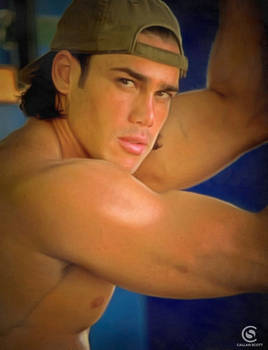 Angelo Shirtless In Ball Cap
