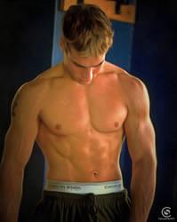 College Jock Zachery In Gym