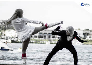 lili and lee fight by RedCat-Cosplay