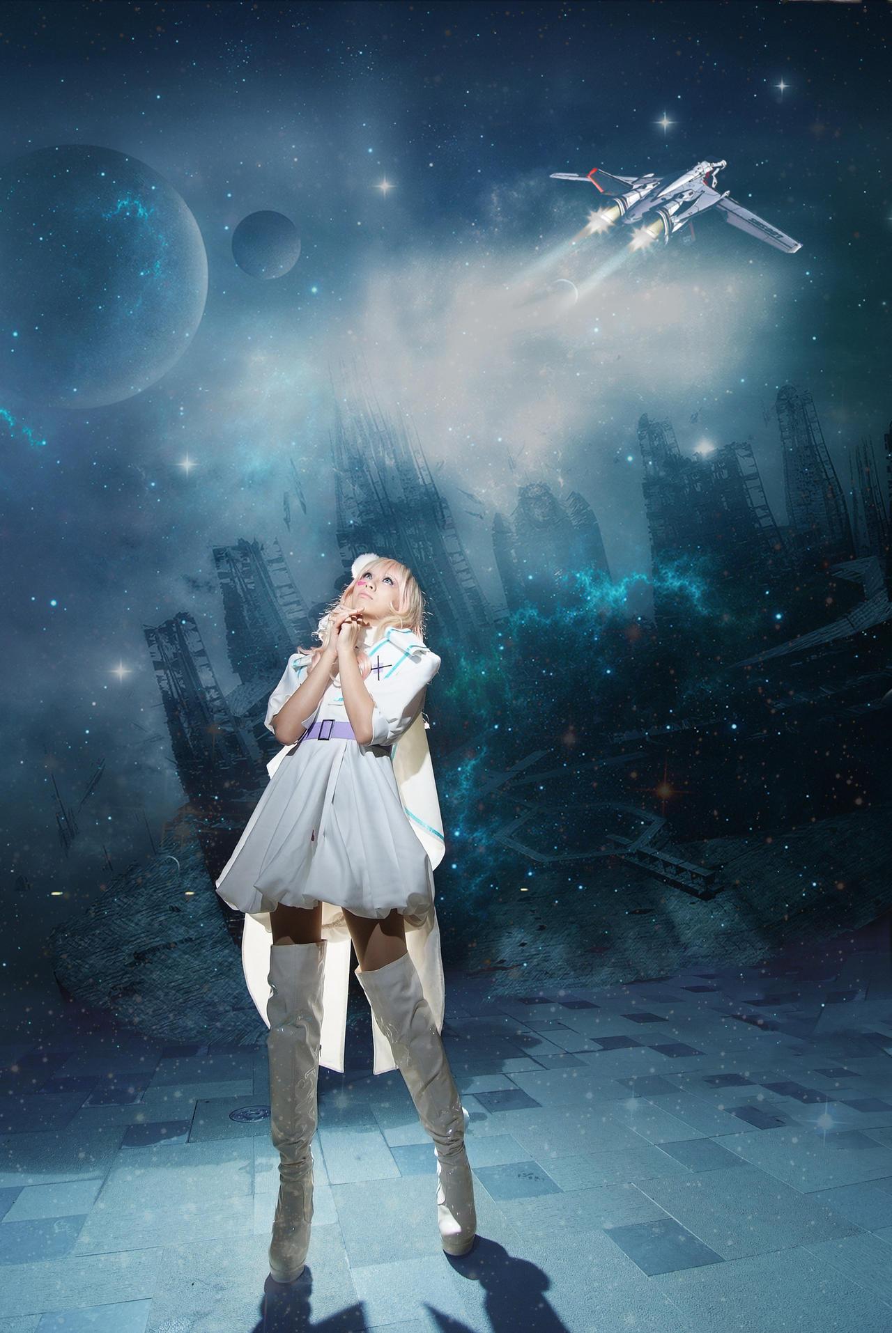 [Macross Frontier] White Bunny by yamihoshi123
