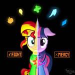 Ponytale Sunset - Chara : Twilight - Frisk
