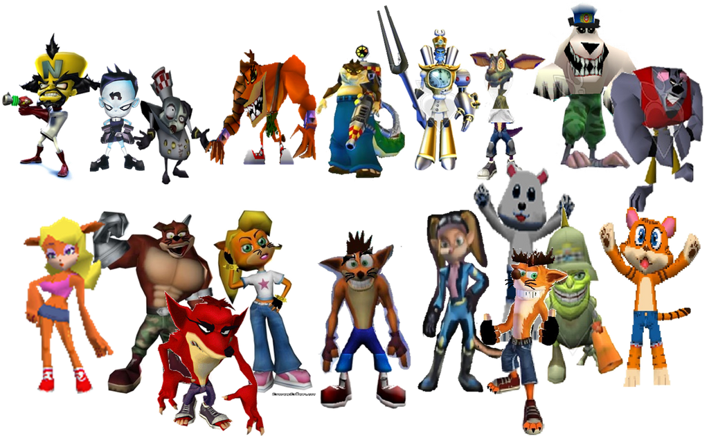 Crash Bandicoot Evil Characters
