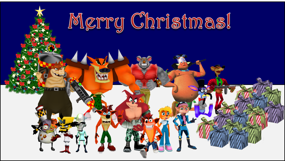 Crash Bandicoot Christmas.Crash Bandicoot Wumpa Island Christmas By Bandidude On