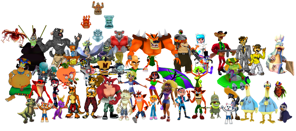 crash bandicoot characters by bandidude on deviantart