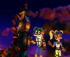 Crash and Coco's Operation Sneek in by Bandidude