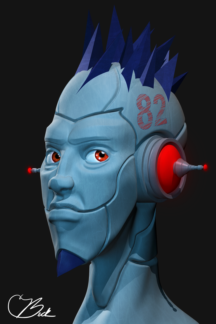 Cyber Dude Guy Droid by SpeckyNation