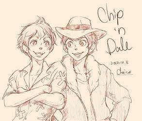 Chip 'n Dale by chacckco