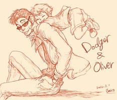 Dodger and Oliver by chacckco