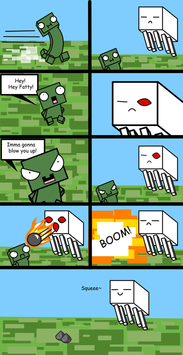 creepers and ghasts by mushroomjelly on deviantart