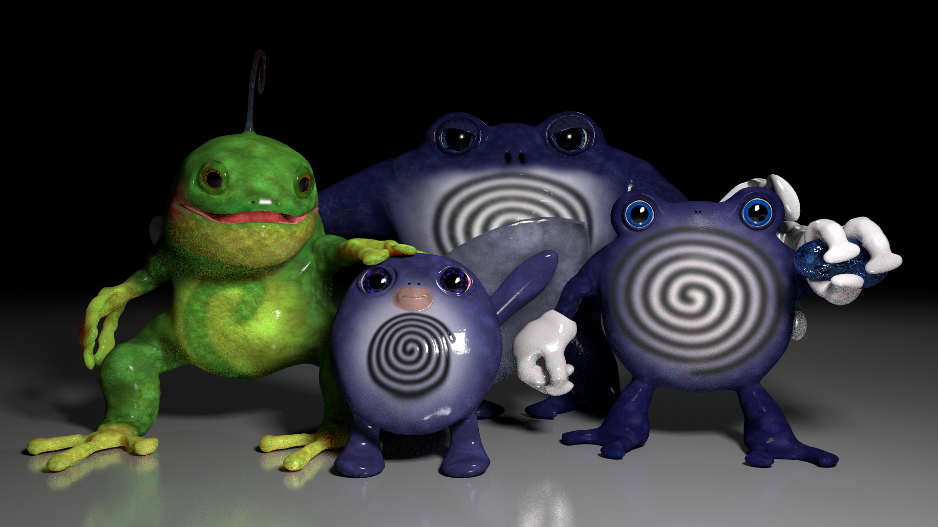 be06a9cd Blender 3d Models: Poliwag Evolutions by alewism on DeviantArt