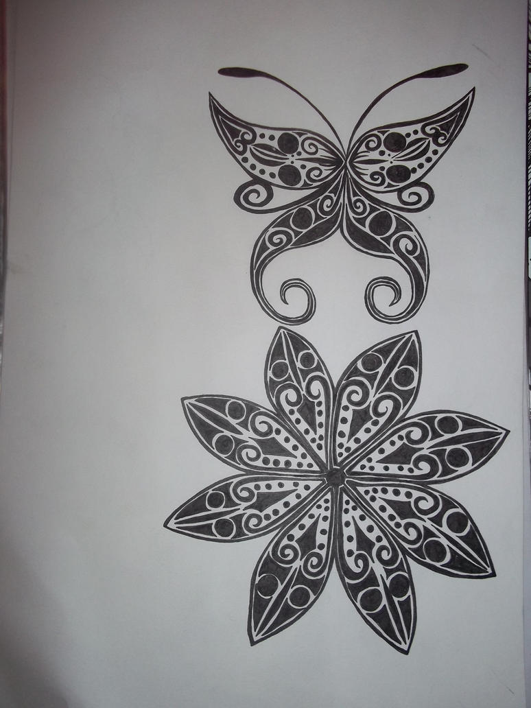 The gallery for traditional norse art for Norwegian flower tattoo