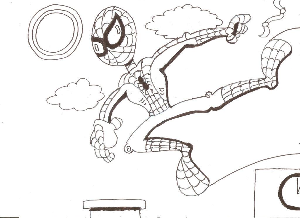 Spiderman sketch by Mischief-MakerStudio