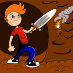 Boy with Sword complete in color