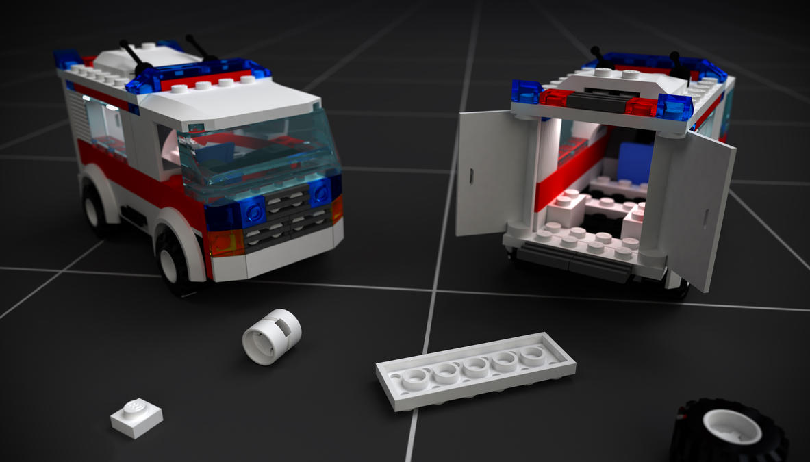 Lego 7890 Accident by Zortje