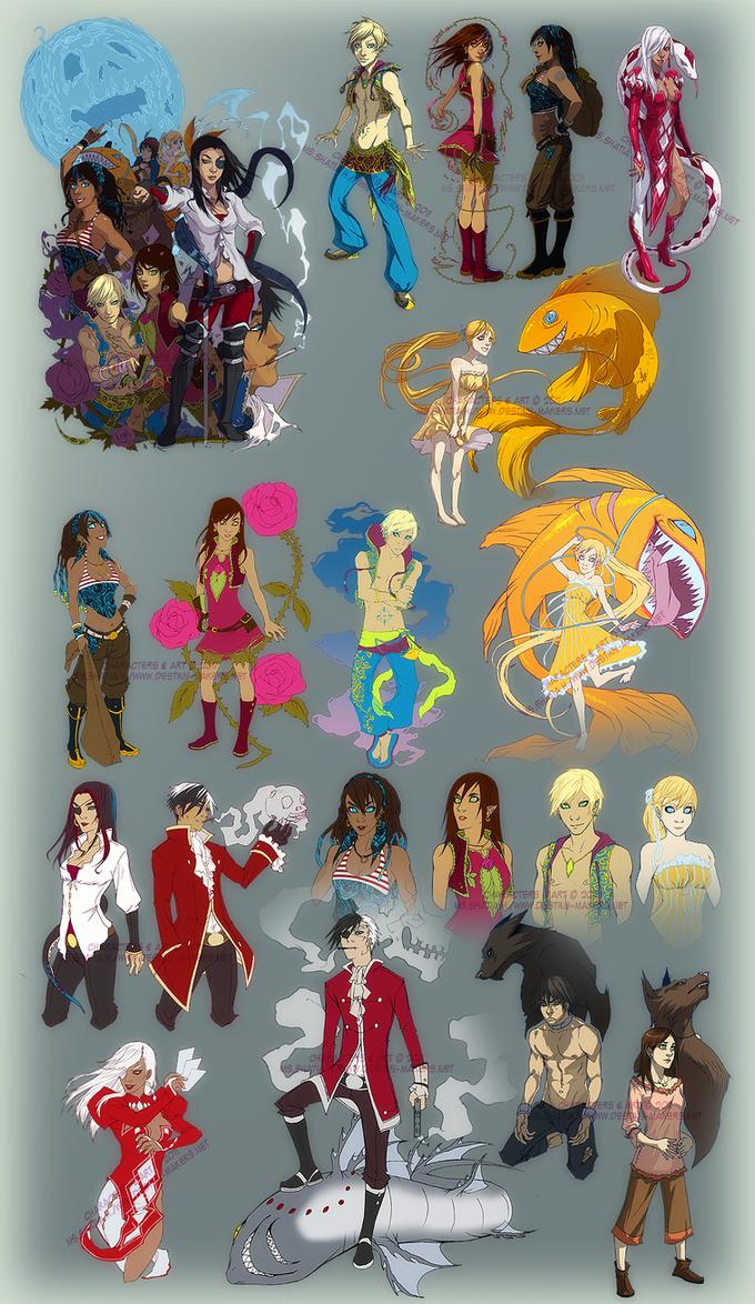 Character art : 2009-2011 by Nashya