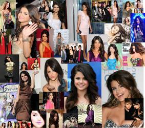 Selena Gomez collage by CuteChibiNeko