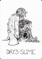 Inktober-Day3 : Slime by Szczurzyslawa