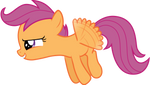 Scootaloo takes flight