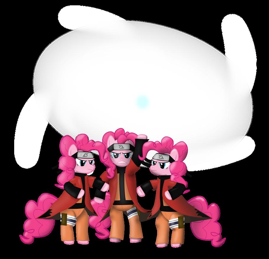 Pinkie pie Rasenshuriken (shaded) by sakatagintoki117