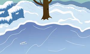 Frozen Pond Background by sakatagintoki117