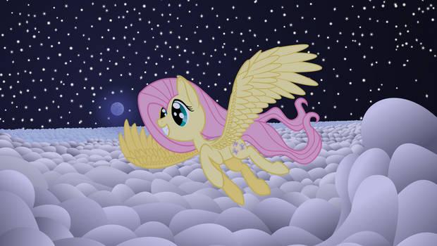 Fluttershy's nighttime flight