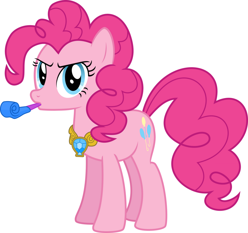 Pinkie is ready for a serios party by sakatagintoki117