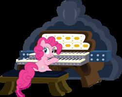 Pinkie playing the organ by sakatagintoki117