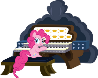 Pinkie playing the organ