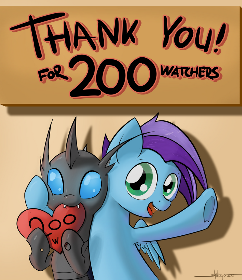 Thank You for 200 Watchers! by Shikogo