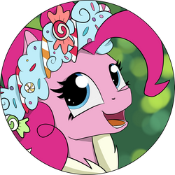 Pinkie Pie - Hearth's Warmin Eve Button Design! by Shikogo