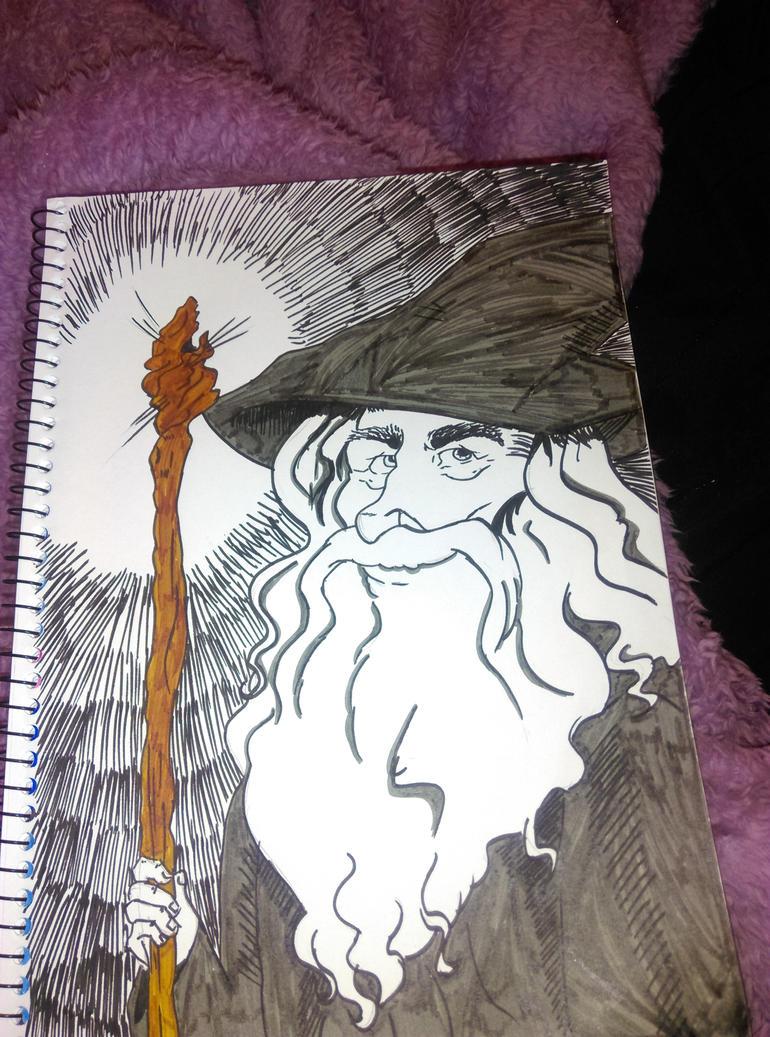 gandalf by leannepixie