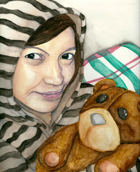 Trisha and Teddy Bear by riolicious