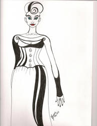 Lady Lineart by NanaCasas