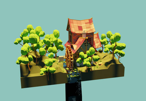 Watermill - 3D Model - Shot 4
