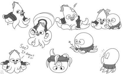 Terra and Geo doodles