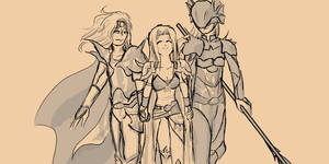 Cecil, Rosa, and Kain