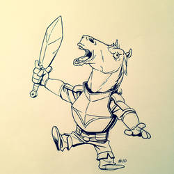 Inktober 2013 #10 by TheAmoebic