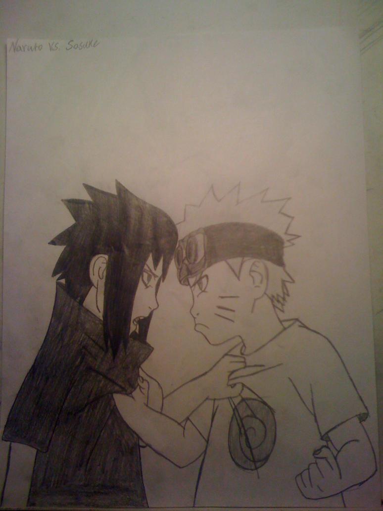 Sasuke vs Naruto by theartistnoe