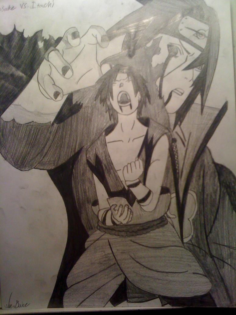 Sasuke vs Itachi by theartistnoe