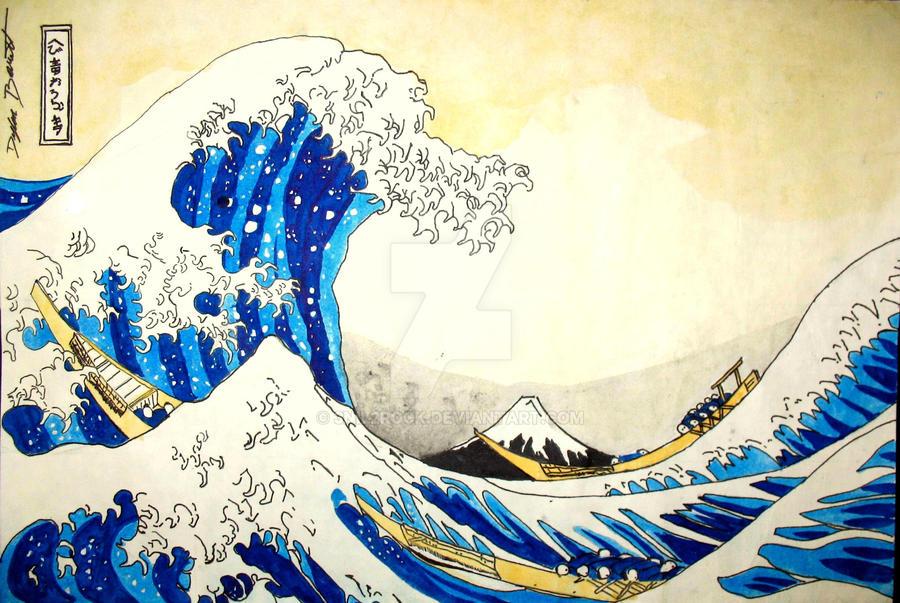 the great wave off kanagawa by 3nil2rock on deviantart. Black Bedroom Furniture Sets. Home Design Ideas