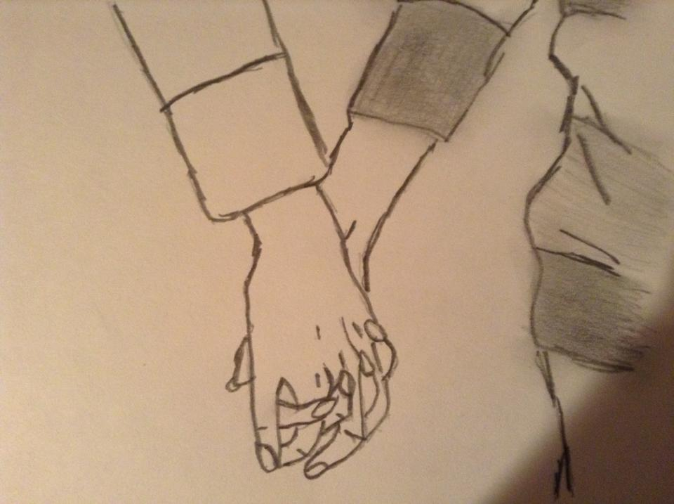 Line Drawing Holding Hands : Holding hands forever together by yuuki on deviantart
