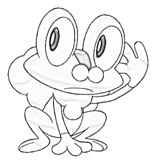 how to draw froakie easy