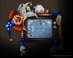 Poltergeist Clown by Art-by-Andy