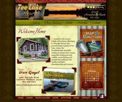 Tee Lake Resort -Flash Website by Art-by-Andy