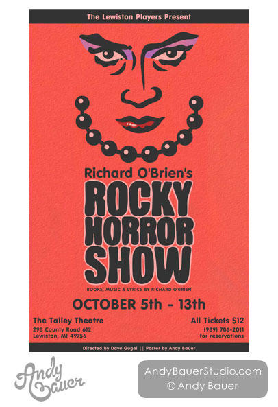 Rocky Horror Show - Poster Design by Andy Bauer
