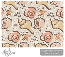 Seashells Surface Design and Pattern